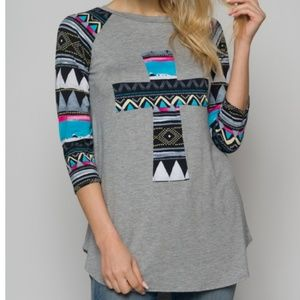 """Tops - Tunic with 3/4"""" sleeves"""